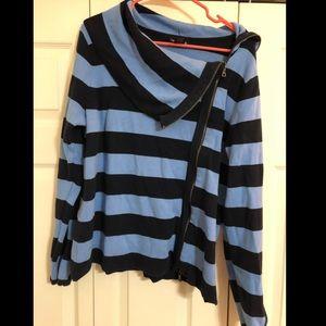 Lane Bryant - Sweater - Blue Stripes - Size 14/16